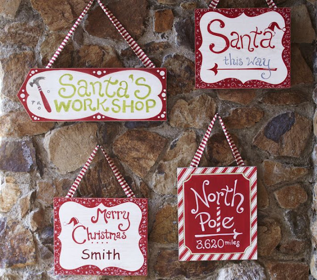 North Pole Sign Tutorial!! Such a cute decor item that can be used inside or outside!