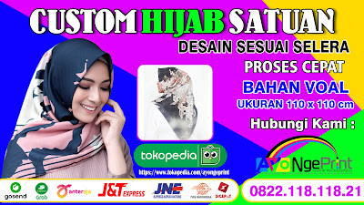 Tempat Jasa Bikin Hijab Full Print Custom di Bojongmangu, Bekasi