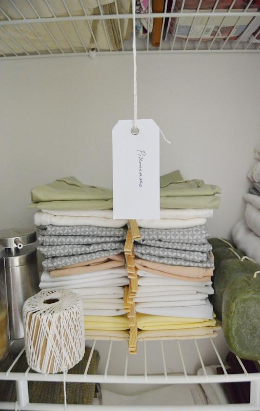 Nest for All Seasons linen organization