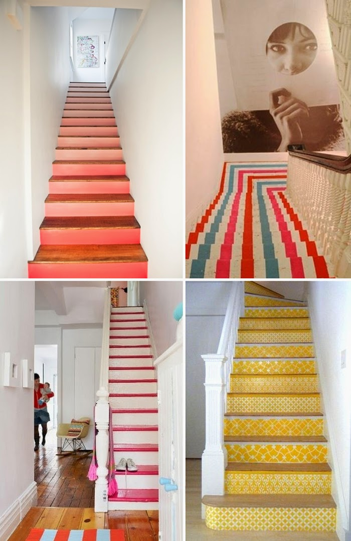 ENTIRELY DESIGN: Painting stairs!