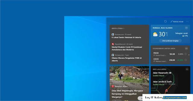 Cara Menghapus Taskbar Cuaca dan Berita dari Windows 10