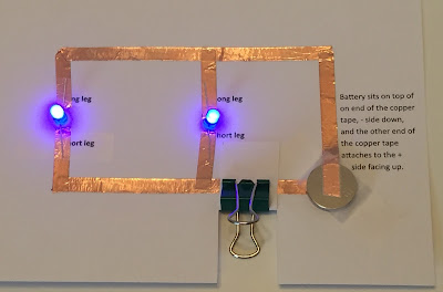 Paper circuits for kids program