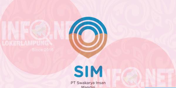 Lowongan Kerja Lampung PT. Swakarya Insan Mandiri