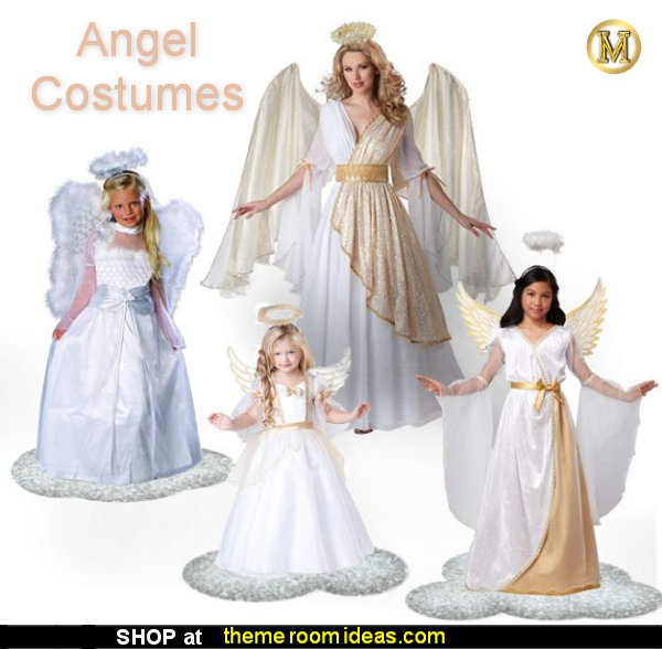 Angel Costumes Heavenly Angel Costume  - Snow Angel Costume  Halloween decorations - Halloween decorating props - Halloween decor  - ghost decorations - Haunted mansion decorations - Pumpkin decorations - Guardian Angel Costumes Halloween Costumes party Costumes