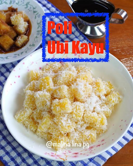 kuih poli ubi kayu, resepi ubi kayu, kuih tradisional,kuih warisan zaman, resepi kuih kelantan, kuih poli bonda linapg,