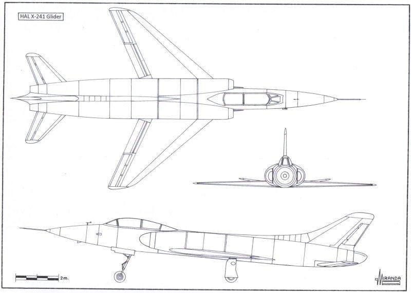 X-241 Wooden Glider - HF-24 Marut Aircraft Indian Air Force IAF - 002 - TN