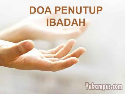 doa penutup ibadah