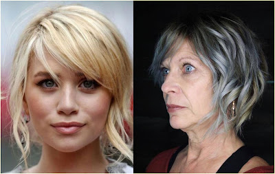 Smoky Side Bang Hairstyle - Hairstyles For Gray Hair Over 60