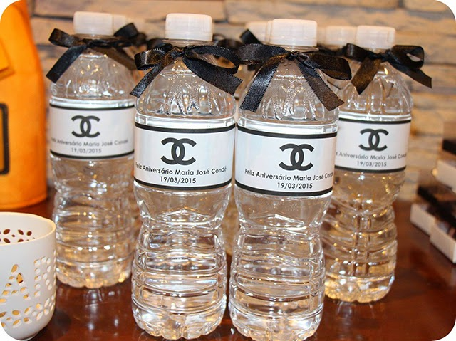 Garrafas De Água Personalizadas Aniversário Chanel