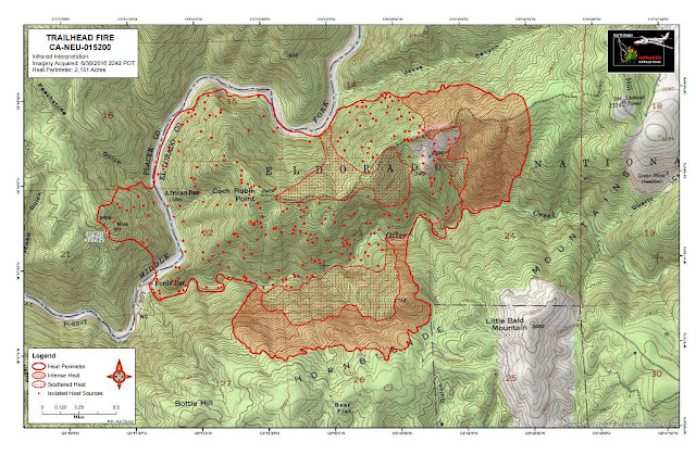 Trailhead Fire Topographic Perimeter Map