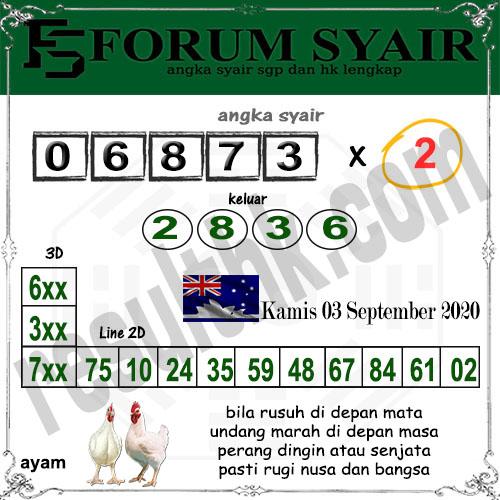Forum Syair Sidney Kamis 03 September 2020