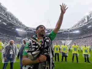 Buffon bids tearful farewell to Juventus after 656 games