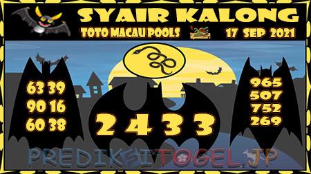 Syair Kalong Toto Macau Jumat 17 September 2021