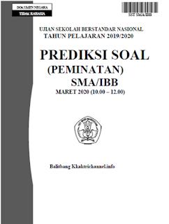 Soal Prediksi Ujian Sekolah (US) Sastra Indonesia SMA tahun 2020