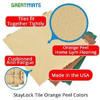 Greatmats Staylock Orange Peel Tiles Jazzercise Zumba flooring