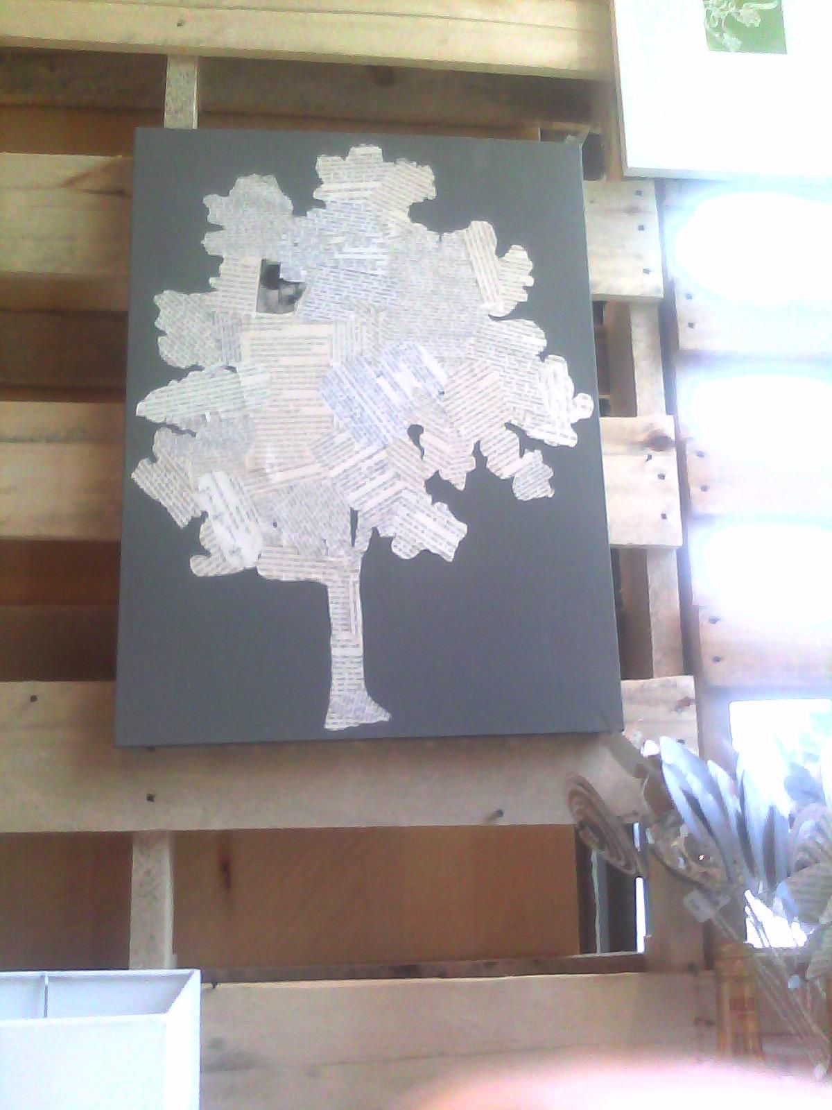 West Elm Tree Art