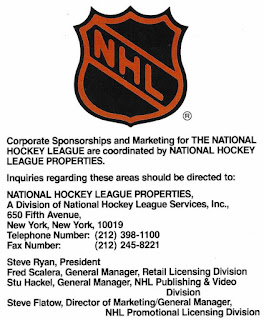 NHL Licensing Staff circa 1990
