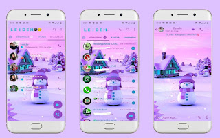 Snow Man Theme For YOWhatsApp & Fouad WhatsApp By Leidiane
