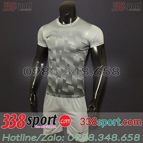 Áo bóng đá không logo màu xám