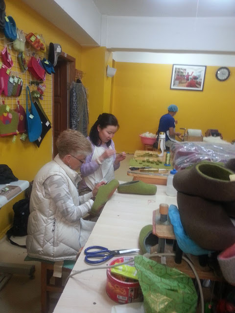 At Made in Mongolia at the Asral NGO centre in Bayangol district, Ulaanbaatar