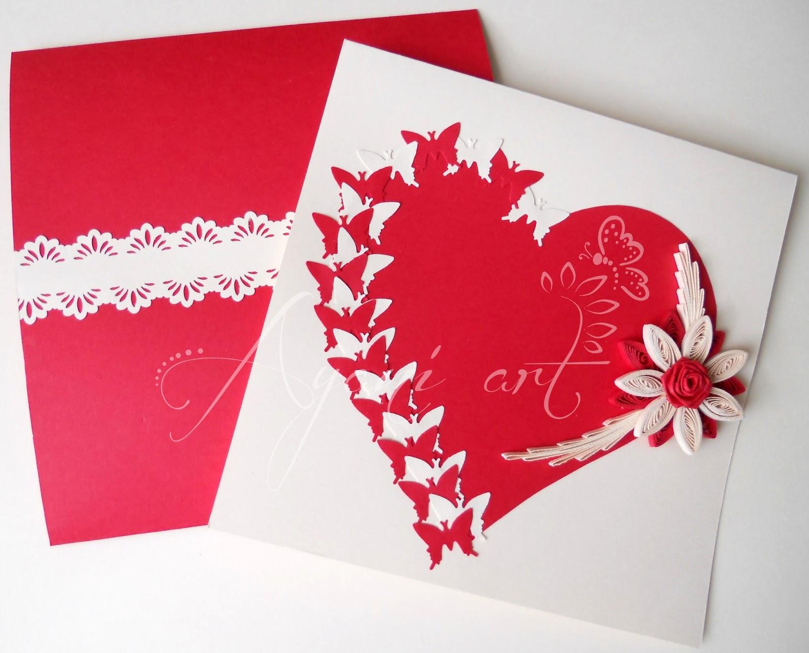 ayani art quilled butterflies valentine
