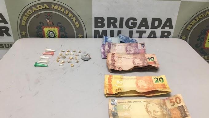 Brigada Militar realiza prisão por tráfico de drogas no bairro Vista Alegre em Cachoeirinha