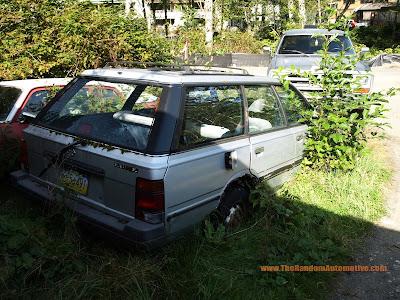 abandoned 1980s subaru gl ketchikan alaska rotting in style