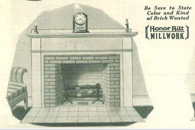 Sears colonial design fireplace surround from 1929 Building Supplies catalog