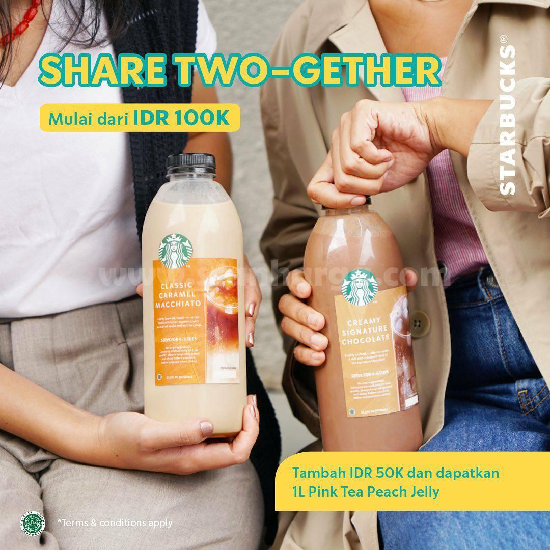 STARBUCKS Promo SHARE TWO-GETHER harga mulai Rp 100.000