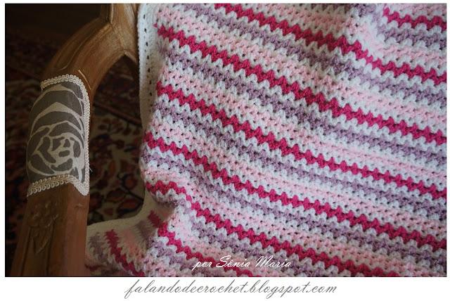 Falando de crochet manta de croche fernanda com grafico e - Manta de crochet facil ...