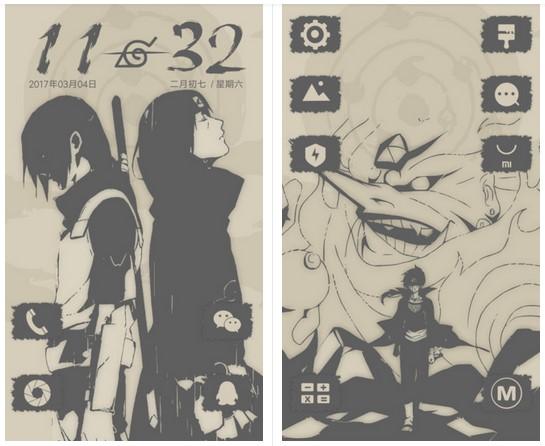 Tema Naruto HP Xiaomi MTZ - Sasuke dan Itachi