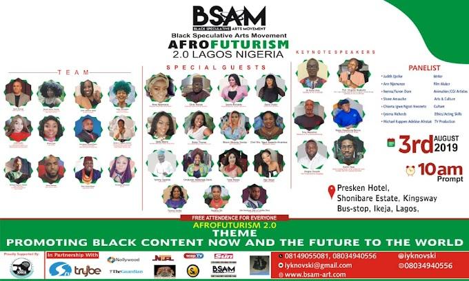 Nigeria FilmMaker / Black Speculative Arts Movement, National Director Emmanuel Ikenna Nwani Set To Host Dr Reynaldo Anderson ( Executive Director / Co - Founder, BSAM ) & International Team Members At AfroFuturism 2.0 Lagos Nigeria