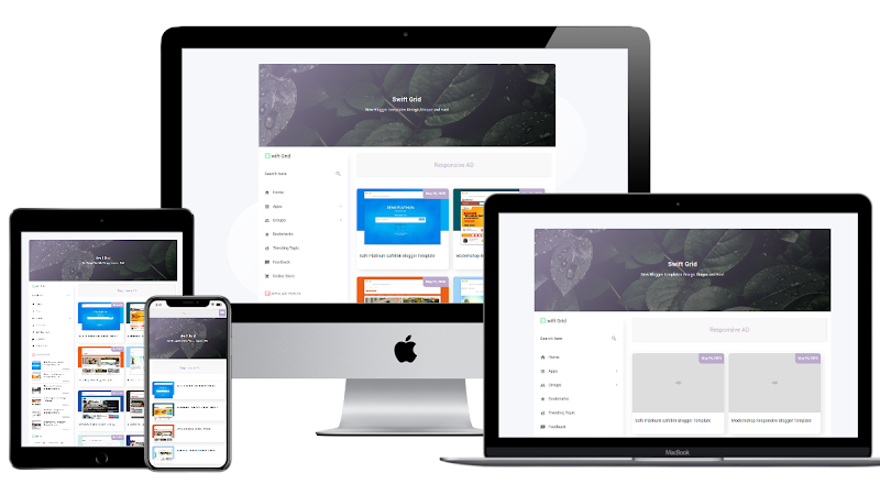 Blanter Swift Redesign Premium Blogger Template - Responsive Blogger Template
