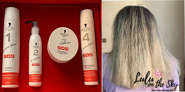 KeraScience SOS by Luciana Gimenez: shampoo, complexo nutritivo, máscara e condicionador