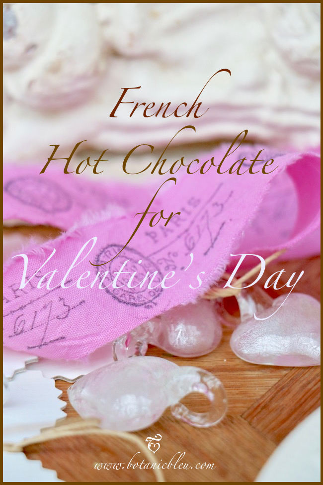 Valentine's Day French Inspiration for favorite hot chocolate
