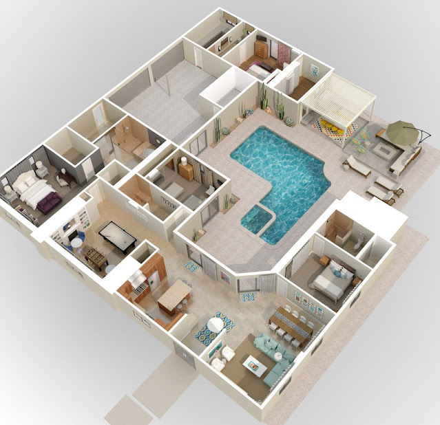 contoh denah rumah sederhana