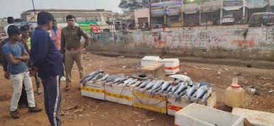 एक्शन : रणवीर सिंह यादव की बस स्टैंड के पास मछली बेचने बालों पर कार्यवाही | Shivpuri News