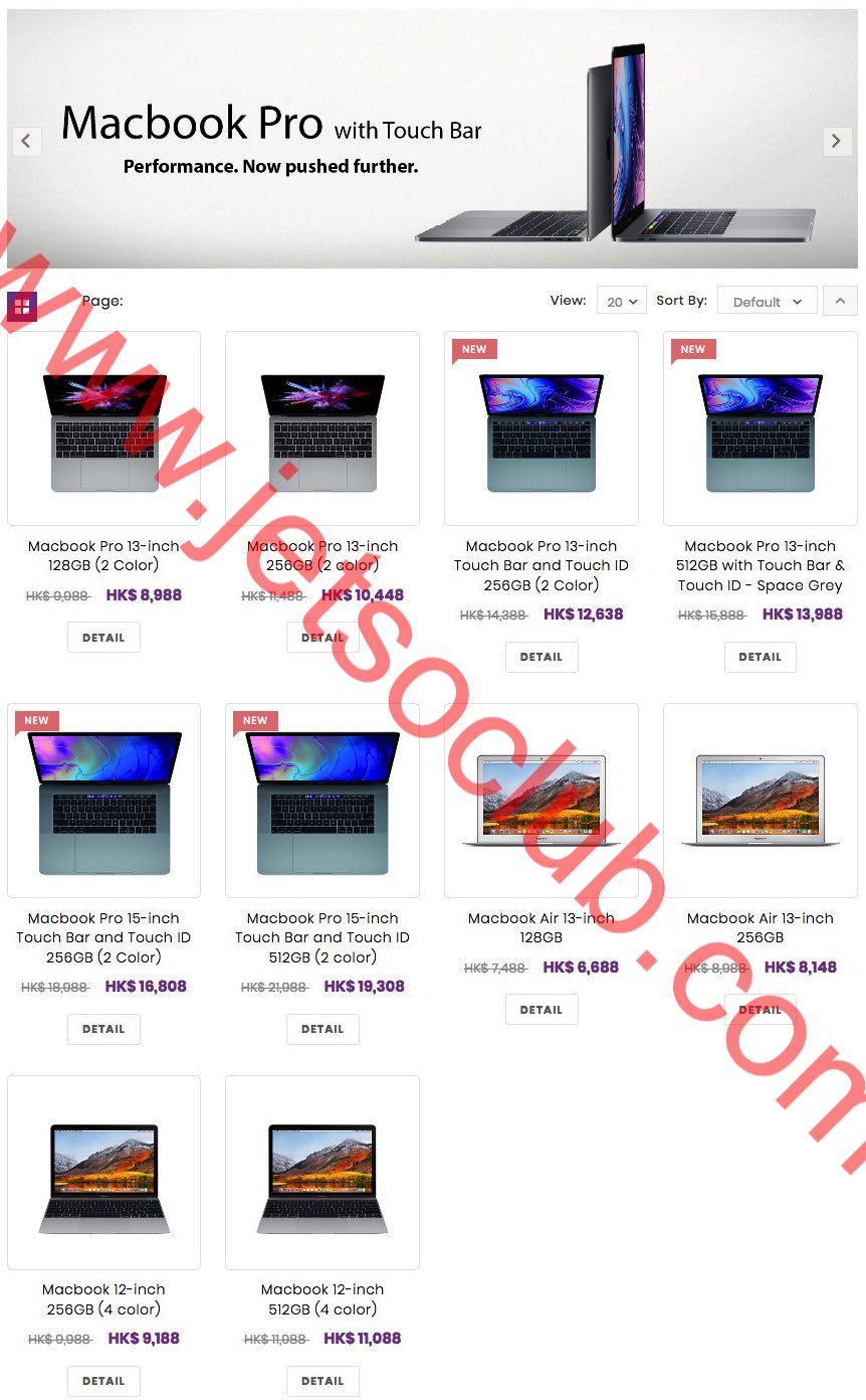 Apple 大專電腦優惠2018 - MacBook $6688起 / iPad $2328起 ( Jetso Club 著數俱樂部 )