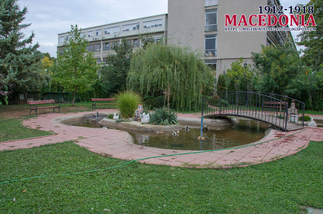 "Ducks in pond - Church ""St. Archangel Michael"" - Avtokomanda, Skopje"