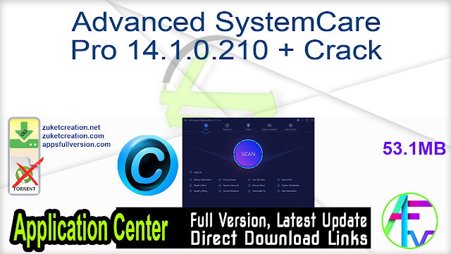 Advanced SystemCare Pro 14.1.0.210 + Crack