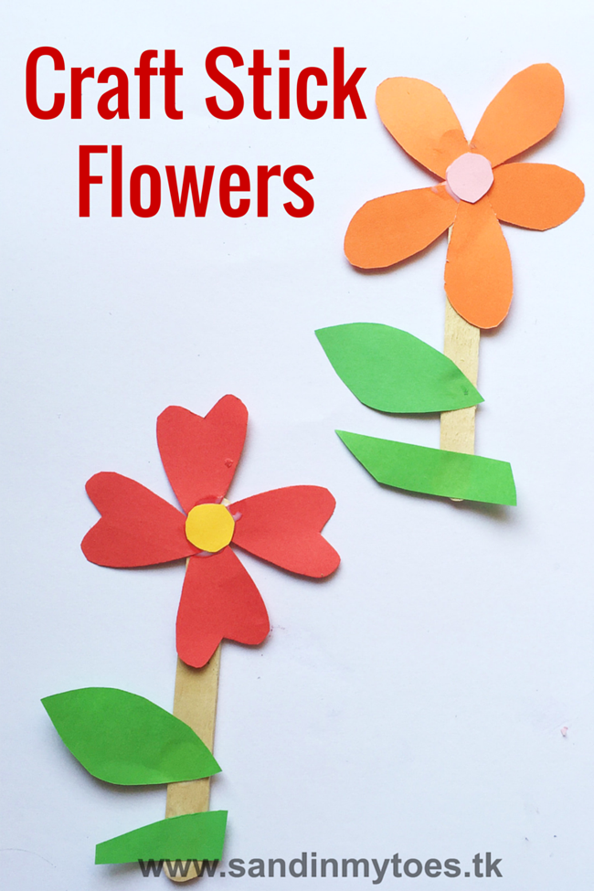 cute craft stick flower craft busy craft stick flowers sand in my toes 6432