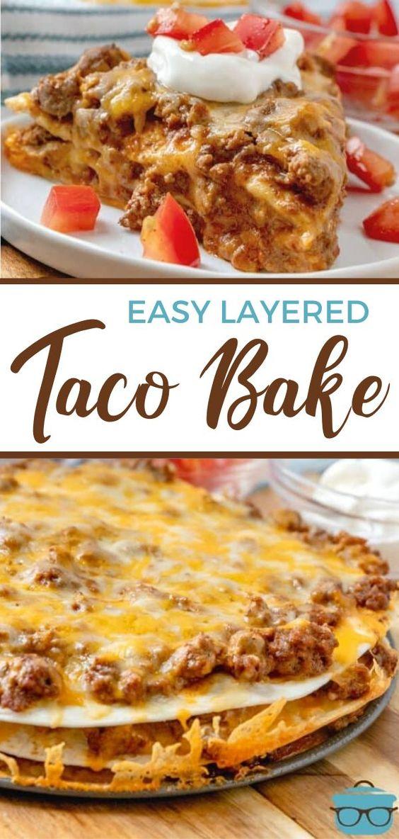 EASY LAYERED TACO BAKE RECIPES