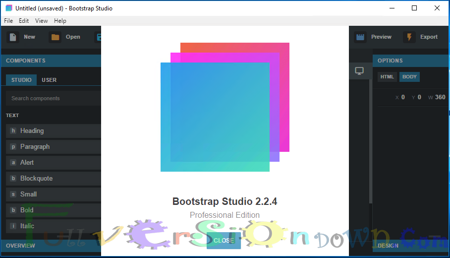 Bootstrap Studio 2.2.4 Professional Edition Latest Full