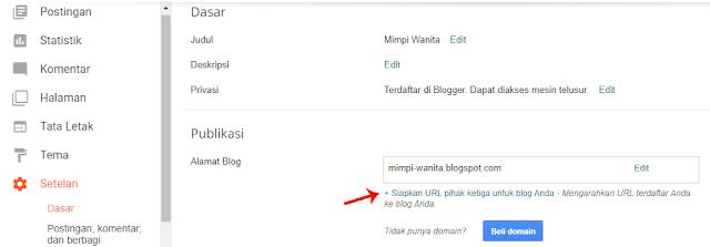 Penyiapan Custom Domain Blogspot