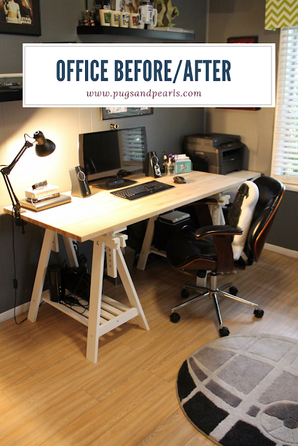 A Geeky and Nerdy Home Office Tour - Pugs & Pearls Blog
