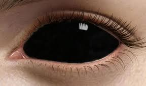 Az egész szemet elfedő lencsék drágábbak mint a sima kozmetikai lencsék.  Black sclera fekete kontaktlencse ... 0a785a5bb9