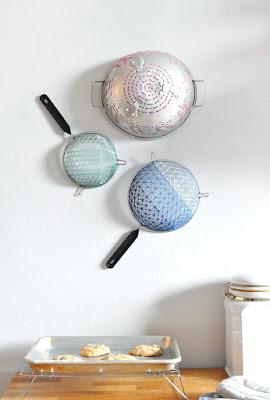 strainer, diy wall art, wall art, diy home decor, diy projects, do it yourself projects, diy, diy crafts, diy craft ideas, diy home, diy decor
