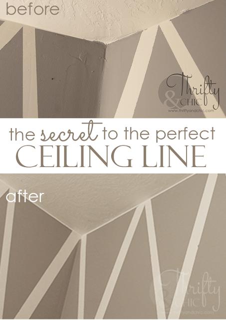 完美的天花板线的秘诀