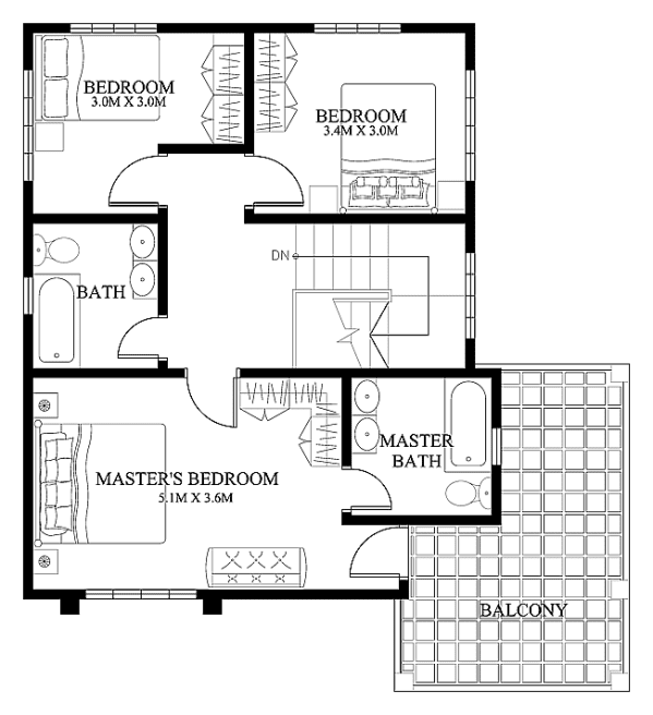 50 images of 15 two storey modern houses with floor plans and - Floor Plans For Houses
