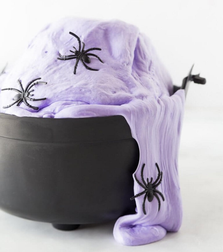 fluffy witches slime with spiders